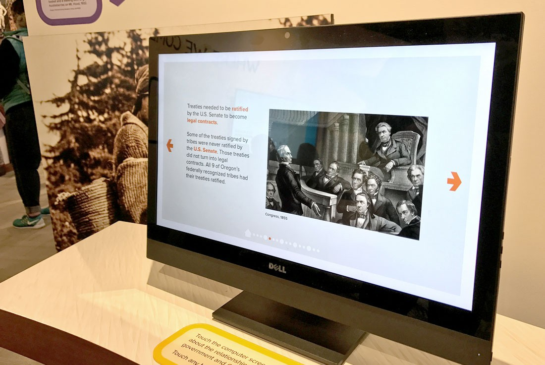 Photo of We Have Always Been Here interactive touchscreen